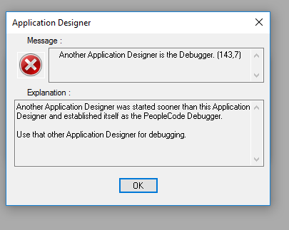Another Application Designer is the Debugger